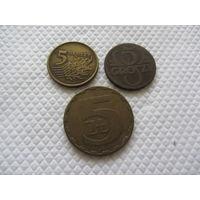 5 грошей 1923, 1979, 1991 г.
