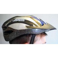 Велосипедный шлем защитный размер М/L синий
