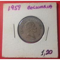 Колумбия, 20 сентаво 1959г.