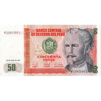 Перу, 50 инти, 1987 г., UNC