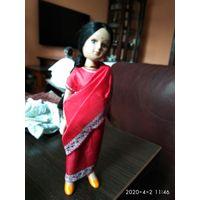 Детская игрушка Кукла Индианка фарфор.