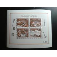 Норвегия 1991 день марки блок