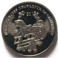 Британские Виргинские Острова 1 доллар 2015 года. Принцесса Шарлотта