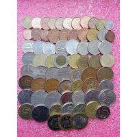 Разные монеты.Хорошая подборка.68 штук