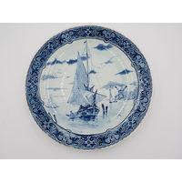 Тарелка Декоративная Парусник Фарфор Delft