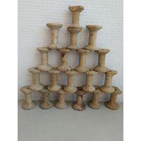 Катушка деревянная для ниток (19 шт). СССР