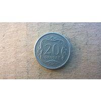 Польша 20 грошей, 1991г. (D-4)