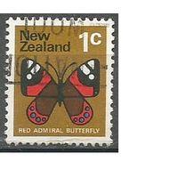 Новая Зеландия. Бабочка Красный адмирал. 1970г. Mi#518.