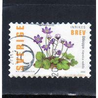 Швеция.Ми-2350. Цветы.Hepatica (Hepatica Nobilis). Серия: Весенние цветы.2003.