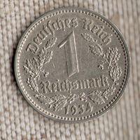 Германия 1 марка 1934 F//(Oct)