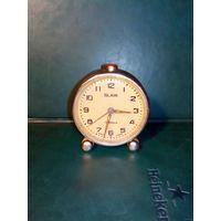 Часы будильник Слава SLAVA в работу 1