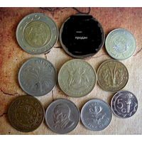 Монеты Африки. 9 монет - 9 стран. 1959 - 2017 г.