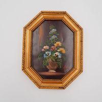 Картина восьмигранная цветы Италия