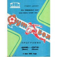 Динамо Минск - Спартак Москва 2.05.1986г.