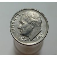 10 центов 1990 США (1 дайм) P