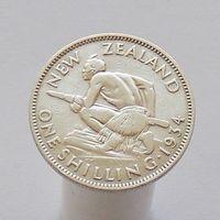 Новая Зеландия 1 шиллинг 1934 серебро