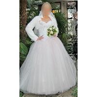 Свадебное платье нежно-розового оттенка, р.44-48