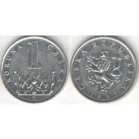 Чехия. 1 крона 1995 года.