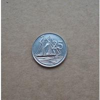 Каймановы острова, 25 центов 2005 г., Елизавета II, старый портрет