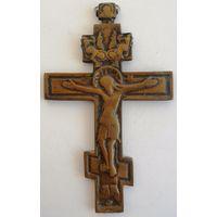 Крест из латуни, 19 век. 16,5х10 см.