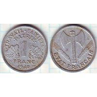 Франция 1 франк 1942 (1)