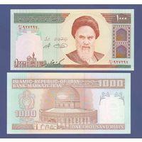Банкнота Иран 1 000 риалов не датирована (1992) UNC ПРЕСС