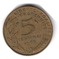 Франция. 5 сантимов. 1966 г.