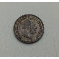 ПРУССИЯ  1 зильбергрош 1866 г.