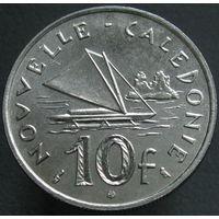 1к Новая Каледония 10 франков 1967 В ХОЛДЕРЕ распродажа коллекции