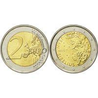 2 Евро Финляндия 2015 Ян Сибелиус UNC из ролла