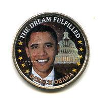 США 2008 БАРАК ОБАМА ЦВЕТНЫЕ 25 центов КВОТЕР CAPITOL