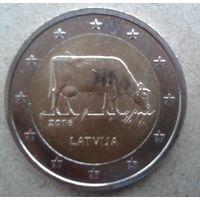 2 евро Латвия Юбилейная 2016