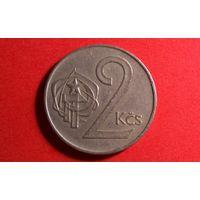 2 кроны 1974. Чехия.