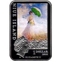 Ниуэ 1 доллар 2010 Художники мира Клод Моне Серебро Proof