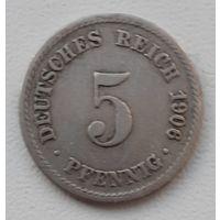 Распродажа - Германия (Империя) 5 пфеннигов 1906 (A)_km#11