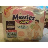 Подгузники-трусики Merries L (22шт)