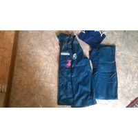 Спецодежда .Костюм влаговетрозащитный (темно-синий/васильковый, размер 48, рост 182 см)