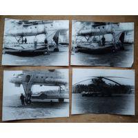 Фото будней военных вертолетчиков (1). 6 фото. 18х23 см