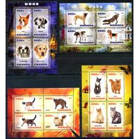 Руанда Кошки & Собаки Фауна 4 Малых листа   st