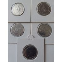 Уганда 100 шиллингов 2004 года Обезьяны (набор из 5-и монет)