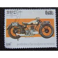 Кампучия 1985г. Мотоцикл.