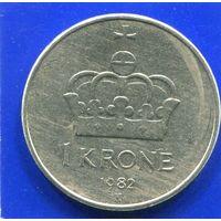 Норвегия 1 крона 1982