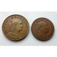 Мексика - 2 разные монеты (из коллекции)