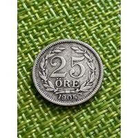 Швеция 25 эре 1905 г ( последний год , тир 732 тыс. )
