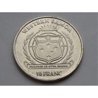Западное Самоа 10 франков 2018