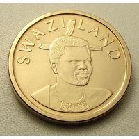 """Эсватини """"Свазиленд"""" 1 эмалангени 2011 год KM#60 """"Король Мсвати III """"Дзелигве Шонгве"""""""
