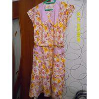 Платье ситцевое размер 54 фабричное для дома