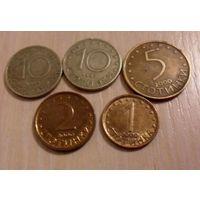 Монеты Болгарии 5 шт (цена за все)