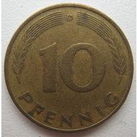 Германия 10 пфеннигов 1978 (D) г.