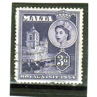Мальта.Ми-233.Кафедральный собор Святого Джона. .Королева Елизавета II. Королевский визит в 1954 году